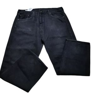 Levi's 501 Black Wash Fly Zip Men Size W42 / L30